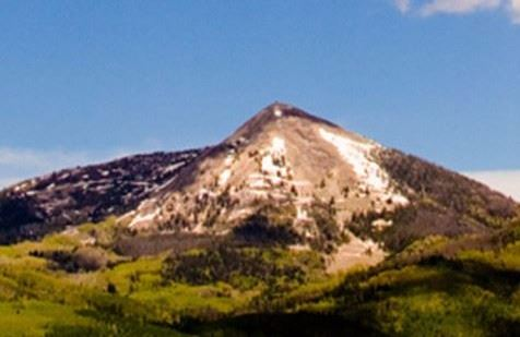 Hahn's Peak mountain with some snow