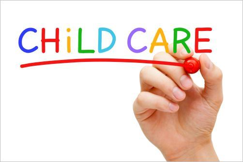 Child care logo with words